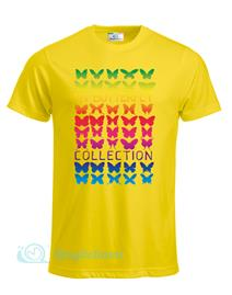 Magliettami T-shirt butterfly giallo