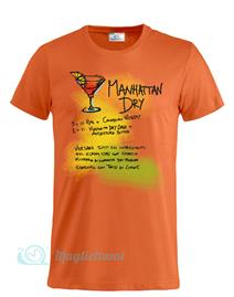Magliettami T-shirt Cocktail Manhattan Arancio