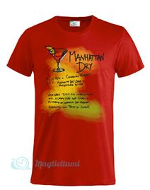 Magliettami T-shirt Cocktail Manhattan Rossa